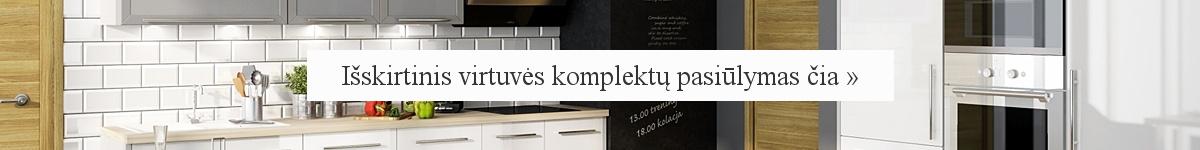 Išskirtinis virtuvės komplektų pasiūlymas čia