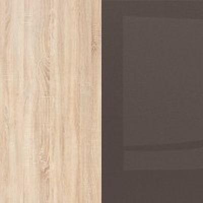 Ąžuolas sonoma/juoda ruda blizgi