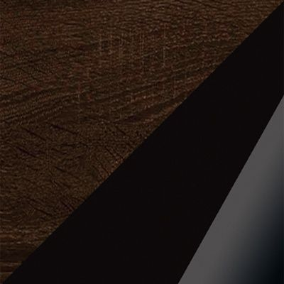 Ąžuolas sonoma tamsus/juoda blizgi