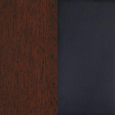 Ąžuolas tamsintas/eko oda juoda matowa