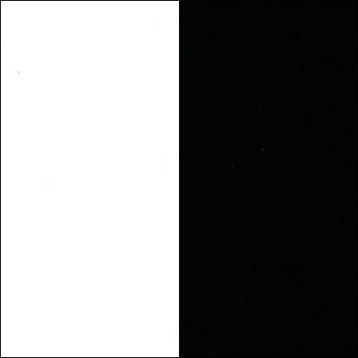 Balta / juodas stiklas