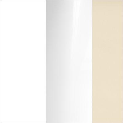 Balta/Balta MDF blizgi/juostelės smėlio spalvos