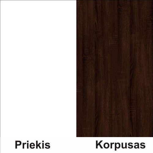 Balta (front)/sonoma šokolado (korpus)