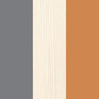 Grafitas/smėlio/oranžinė