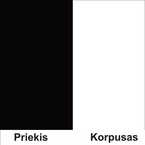 Juoda (Front)/balta (Korpus)