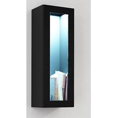 Juoda mat (korpusas) / juoda blizgi (priekis) vitrina 90 stiklas