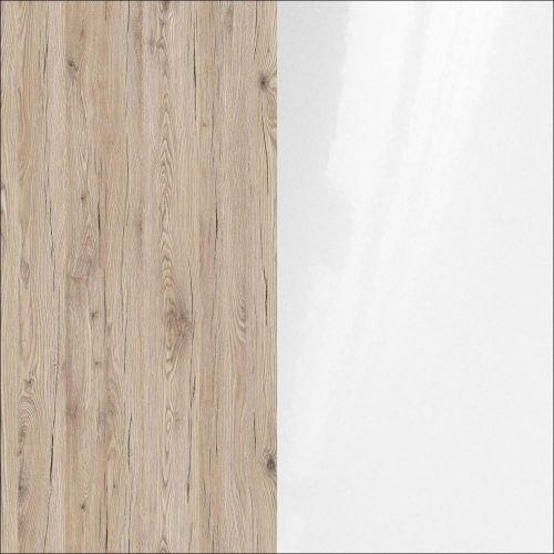 R4414 ąžuolas bordeaux/balta blizgi
