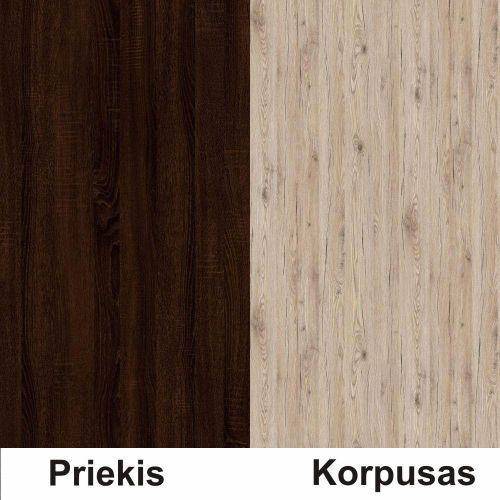 Sonoma šokolado (front)/bordeux (korpus)