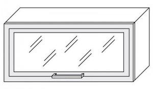 80 cm pakabinama spintelė 36 cm W4BS 80 MDF