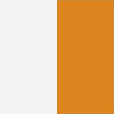 Balta/oranžinė blizgi