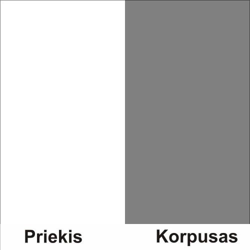Balta (front)/pilka (korpus)
