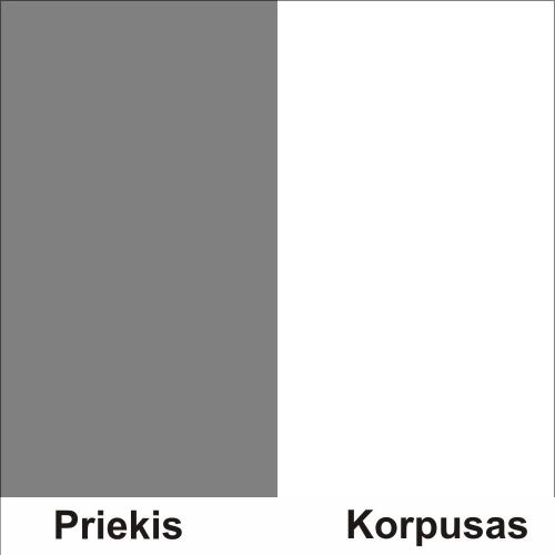 Pilka (front)/balta (korpus)