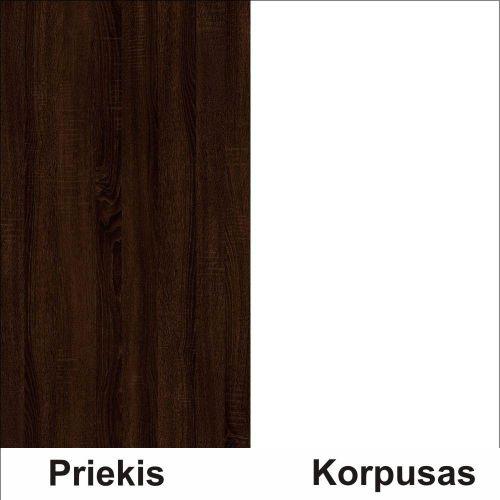 Sonoma šokolado (front)/balta (korpus)