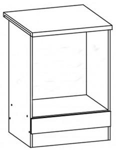 60 cm pastatoma spintelė orkaitei EZ15/D60P #2