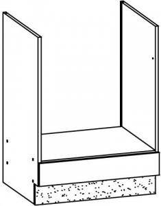 60 cm pastatoma spintelė orkaitei #2